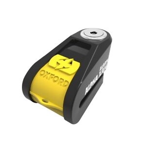Oxford Alpha XD14 Security Motorcycle Scooter Bike Disc Lock 14mm Pin Yellow Best Bike Theft Protection