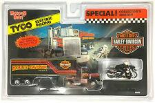 1993 TYCO Slot Car HARLEY DAVIDSON MOTORCYCLE Tractor Trailer 9090 RareNIGHTcard
