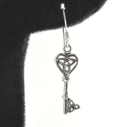 Free Gift Packaging Sterling Silver Celtic Key Earrings