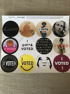 """NEW Lot of 12 """"I VOTED """"Election Stickers. A Sheet Of 12 Different Stickers."""