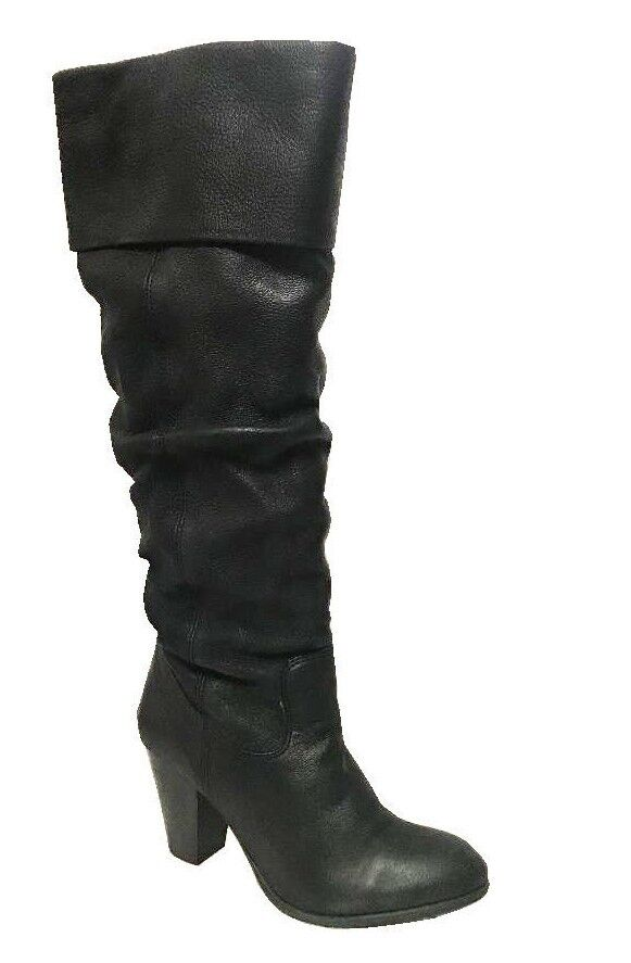 Womens Office London Justice Knee Boot Black Black Black Leather Boots . 63f50e
