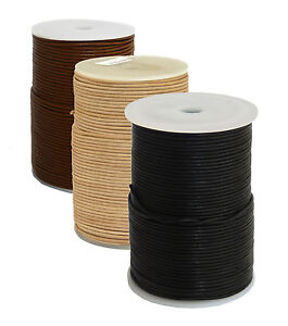 Lederband-ab-0-41-m-ab-2m-Schnur-Riemen-Kordel-echt-Leder-rund-1-4mm
