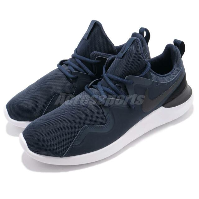 new style c51e5 237d6 Nike Tessen Midnight Navy Black Men Athletic Shoes Sneakers Trainers  AA2160-400