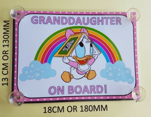 Baby daisy duck granddaughter On Board Car Laminated Sign