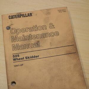 Details about CAT Caterpillar 525 Wheel Skidder Owner Operation Manual  operator log book guide