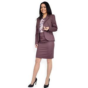 Merveilleux Image Is Loading Elegant Ladies Eggplant 2 Piece Skirt Blazer Office