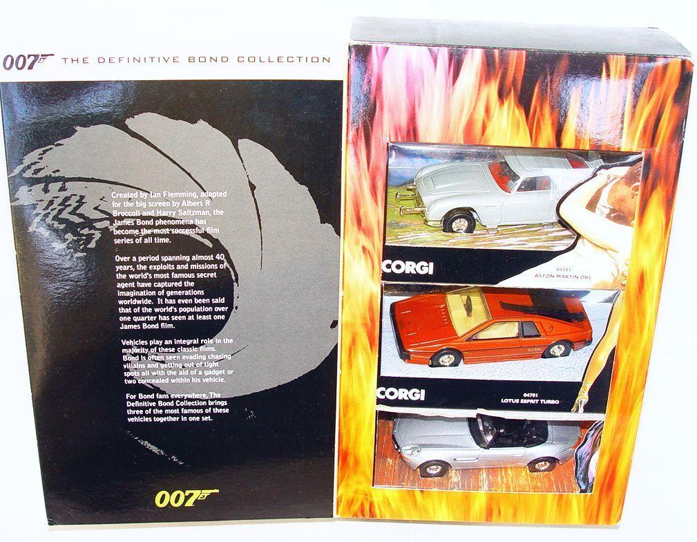 Corgi Toys 1 36 36 36 JAMES BOND 007 ASTON MARTIN DB.5 LOTUS ELAN BMW Z8 MIB`01 RARE  029a2e