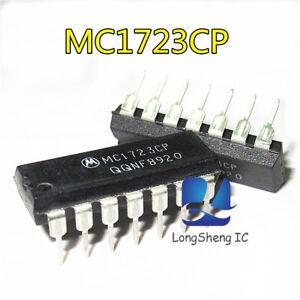 10PCS-MC1723CP-VOLTAGE-REGULATOR-DIP14