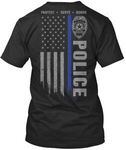 Police-Blue-Line-Protect-Serve-Honor-Premium-Tee-T-Shirt