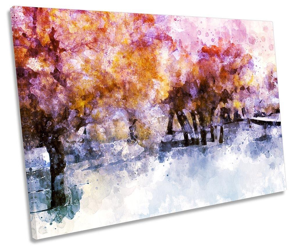 Bosque invierno De De De Lona Parojo obra de arte abstracto REPRO único Arte Impresión 3a11db