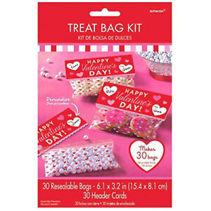 Valentine S Day Treat Bag Kits Cello Wrap Gift Treat Bags 30pk