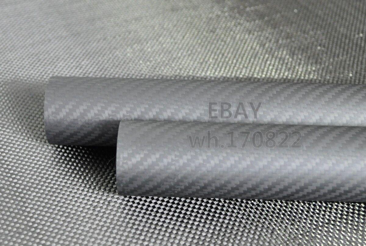 3K autobon Fiber Tube OD50mmID46mm1000mm  Matt Surface Roll Wrapped  Miglior prezzo