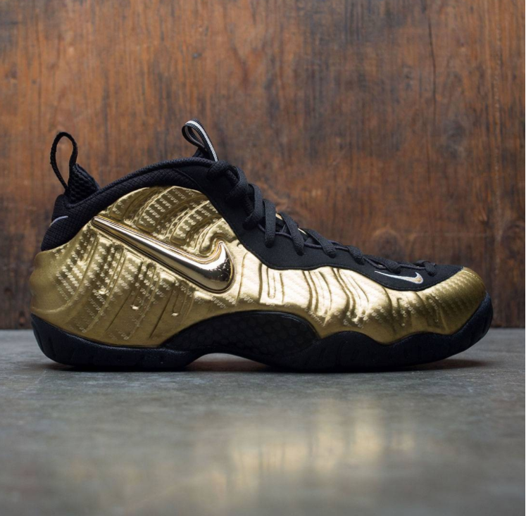 Nike Air Foamposite Pro Metallic Gold Black Size 13. 624041-701 Jordan Penny