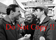Jim Clark & Colin Chapman & Jackie Stewart F1 Portrait Photograph
