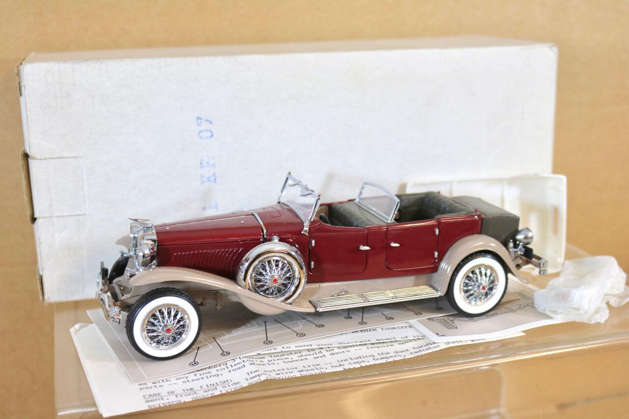 Franklin Mint B11KF07 1 24 1930 Duesenberg Derham Tourster Convertible Maron Nh
