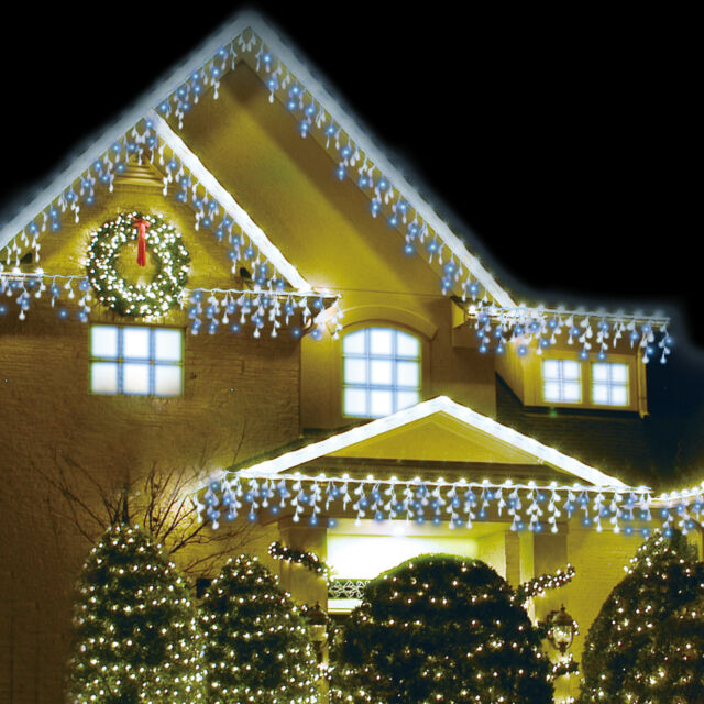Led Christmas Lights Xmas Smart Lighting 14 Meters Snow Effect 480 White Blue