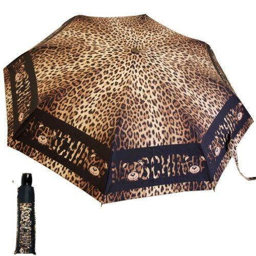 MOSCHINO umbrella  leopard print black  openclose 8138