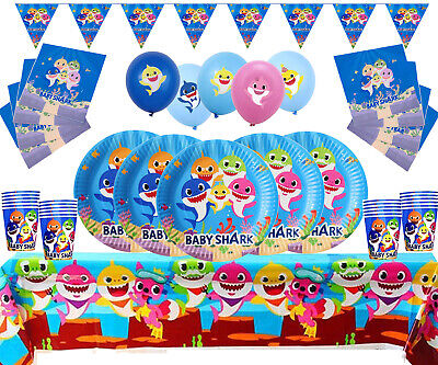 Baby Shark Decorations Party Supplies Set