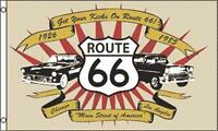 CLASSIC ROUTE 66  FLAG  novelty flag 3 X 5