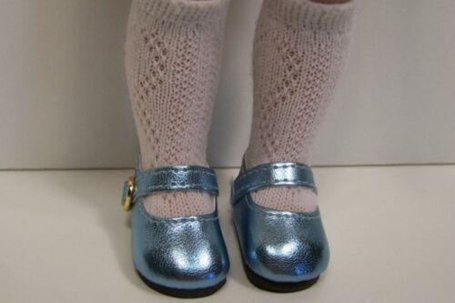 "BLUE Doll Shoes For 10/"" Ann Estelle Sophie Patsy Light Metallic LT Debs"