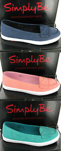 Simply-Be-Casual-Flat-Wide-Fit-Womens-EEE-Slip-On-Pumps-Plimsoles-Shoes-UK4-8