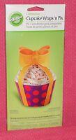 Bow,celebrate Cupcake Wraps/picks,12 Ct.wilton,multi-color,bendable Cardboard