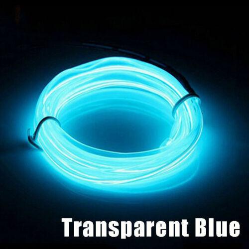 1M//2M//3M//4M//5M EL-Kabel Batterien Neon Lichtschnur Leuchtschnur Leuchtdraht Wire