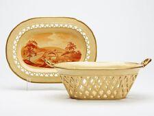 Antico DAVENPORT? drabware Cestello & Supporto presto 19TH C.