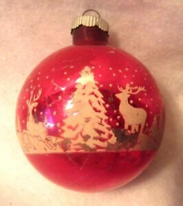 image is loading vintage glass christmas ornament jumbo 4 034 stencil