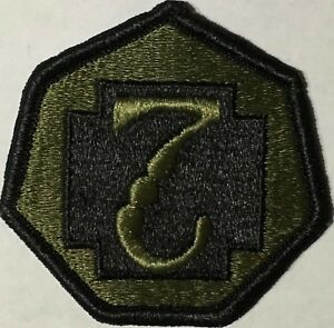 Image is loading US-Army-7th-Medical-Command-OD-Green-Patch- 1c4fdd37988