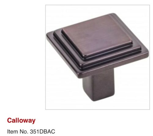 5 Pack/_Elements/_Calloway/_Kitchen Bath Cabinet Drawer Pull/_Arch Square Round