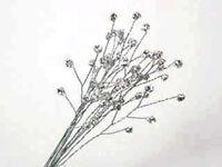 12 Clear Rhinestone Sprays Bouquet Bling Wedding Bridal Flowers Crafts