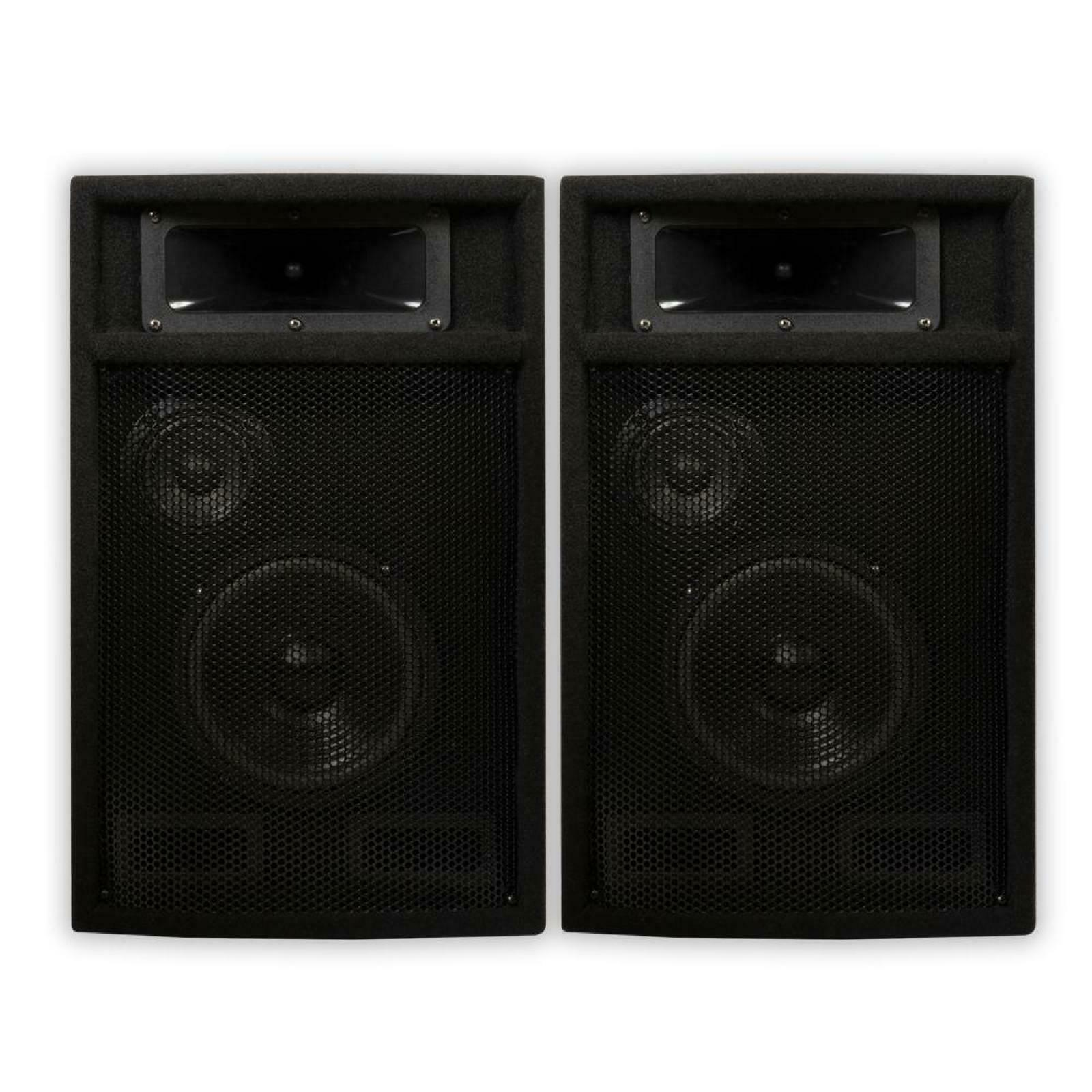 Passive 6.5 in DJ PA Karaoke 3 Way Studio Speakers Indoor professional Audio
