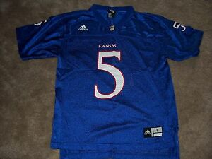 Boys UNIVERSITY OF KANSAS KU Jayhawks Football Jersey Size Lsrge 14 ... 1e5ec1282
