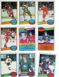 Lot-of-9-1980-81-O-Pee-Chee-Rookie-Cards-OPC-RC