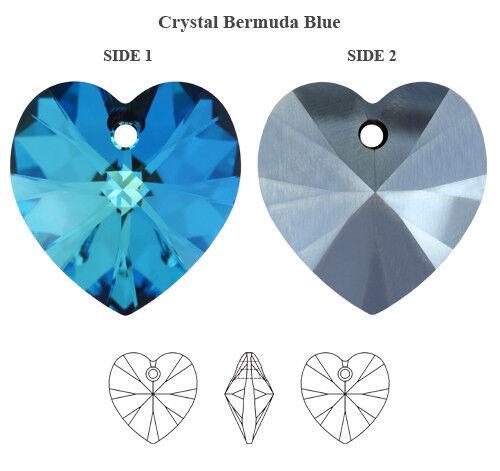 Farben /& Größen Original SWAROVSKI 6228 XILION Herz Kristall Anhänger versch