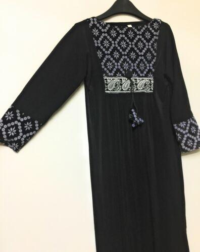 KIDS GIRLS BLACK ABAYAJILBABMOSQUEMADRESSAHISLAMIC CLOTHING