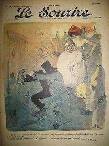LE-SOURIRE-JOURNAL-HUMORISTIQUE-N-92-DESSINS-MIRANDE-CADEL-DESTEZ-1901