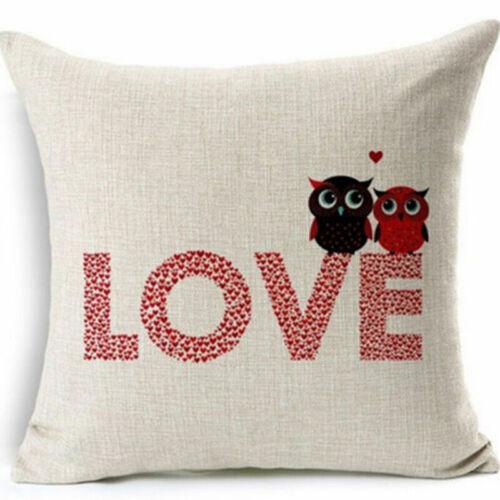 Romantic Retro Words Quotes Throw Cushion Cover Pillow Case Home Sofa Decor