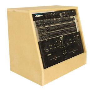 Details about 8u 19 inch Angled Desktop Rack Pod - Recording Radio Studio  Furniture (SMP8A)
