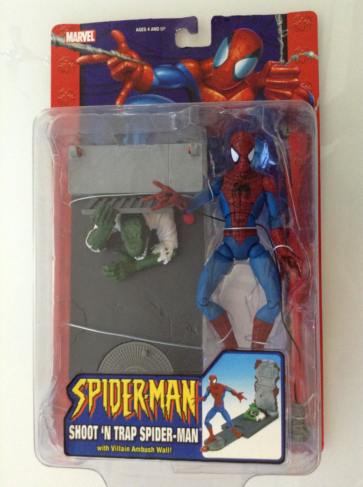 SPIDER-MAN SHOOT 'N TRAP ACTION FIGURE 6  CLASSIC 2005 MARVEL NEW(NOW AMAZING134