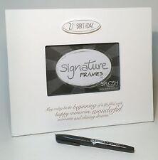 Splosh Happy 21st Birthday Gifts Wooden Signature Photo Frame Great Gift Ideas