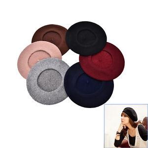 Beret-Uni-chapeau-francais-femmes-d-039-automne-d-039-hiver-Chapeaux-de-mode-de-filles