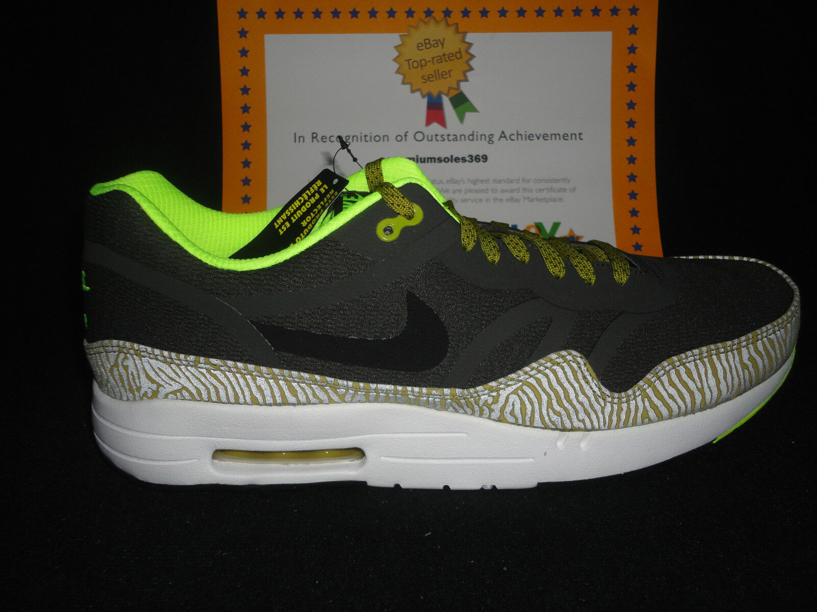 Nike Air Max 1 Premium Tape, Reflective Glow, Sz 12 Wild casual shoes