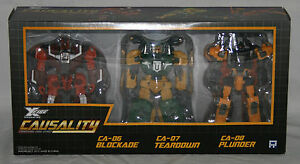 Transformateurs Fansproject Causality Insecticon X-fire Ca-06 Ca-07