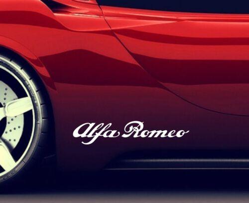 2x Side Skirt Stickers Fits Alfa Romeo Premium Qaulity Graphics Decals RA2
