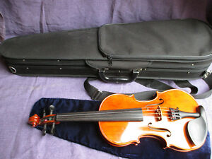 Game-Ready-Old-3-4-Violin-with-Bow-amp-Case-by-Christian-Adam-Violin-Builder