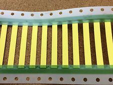 3.2mm x 50mm 2:1 Heat Shrink Sleeving Flat Thin Wall Yellow Wire Marker HX SCE