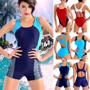 UK-Womens-Training-Monokini-Swimsuit-Bikini-Sports-Training-Racing-Swimwear-6-16