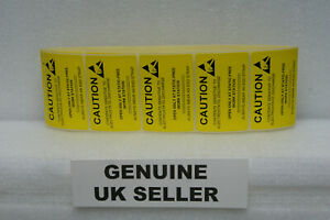 50x-LARGE-CAUTION-ESD-Sticker-Adhesive-Labels-Static-Sensitive-76mm-x-51mm